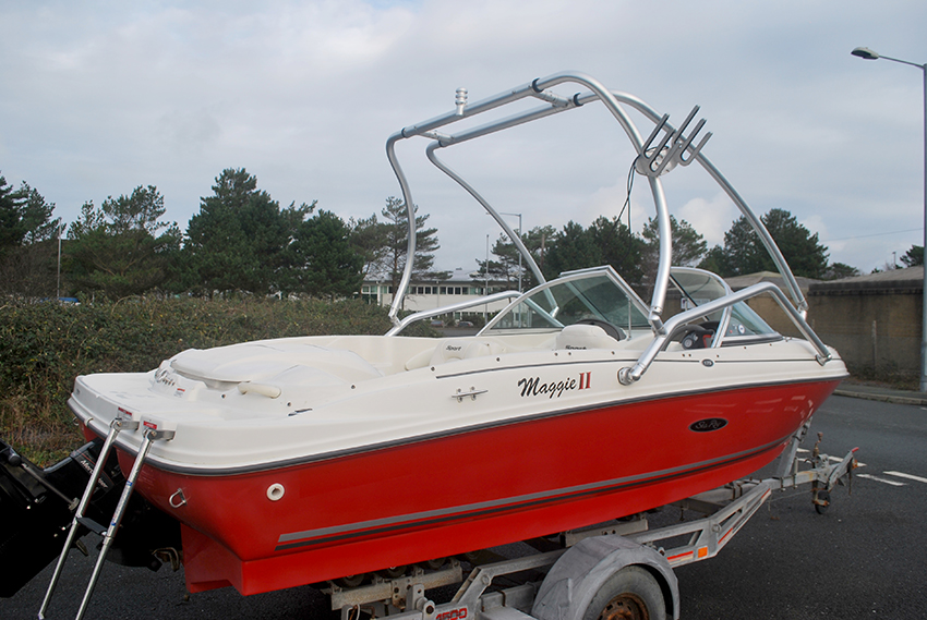 Searay 175 Bowrider for sale at Harbour Marine in Pwllheli