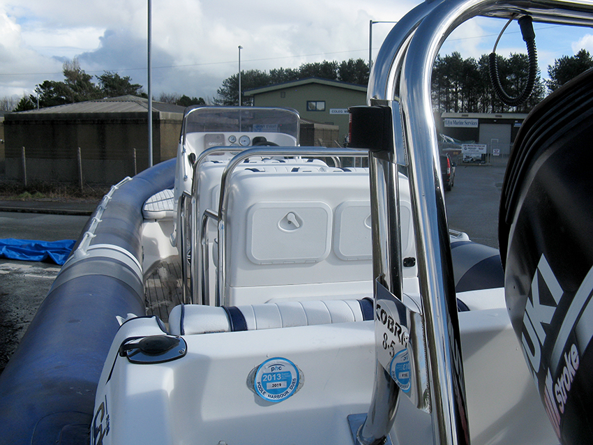 Cobra Nautique 8.6m RIB for sale at Harbour Marine in Pwllheli