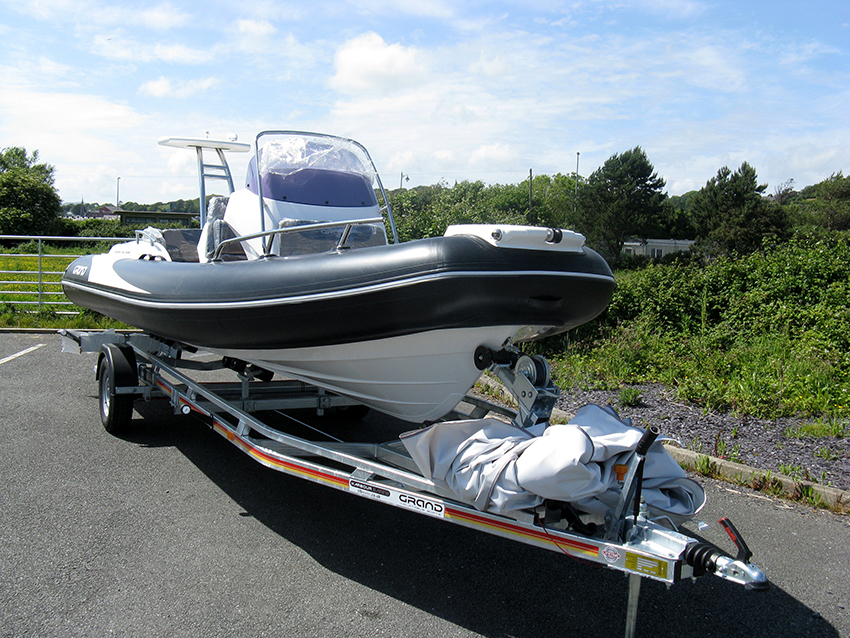 Grand G580 RIB for sale at Harbour Marine in Pwllheli